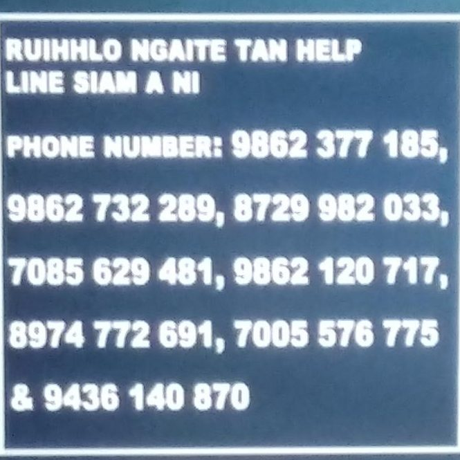 Helpline numbers for drug user community broadcasted on local TV channels of Mizoram