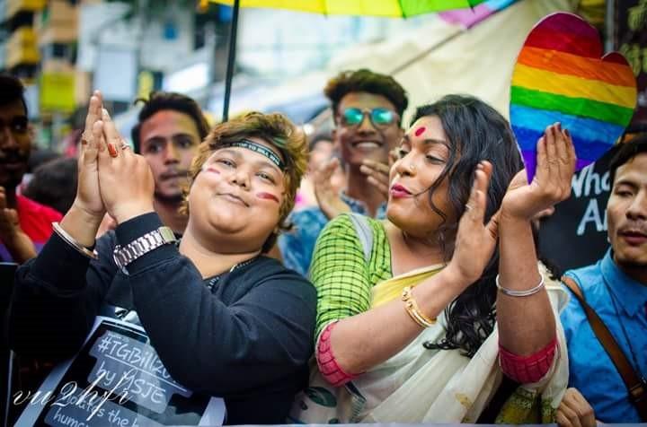 Shyam Ghosh during Kolkata Rainbow Pride Walk