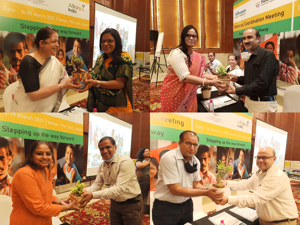 Vihaan felicitated four strategic partners for their contribution in providing technical support to implementing partners