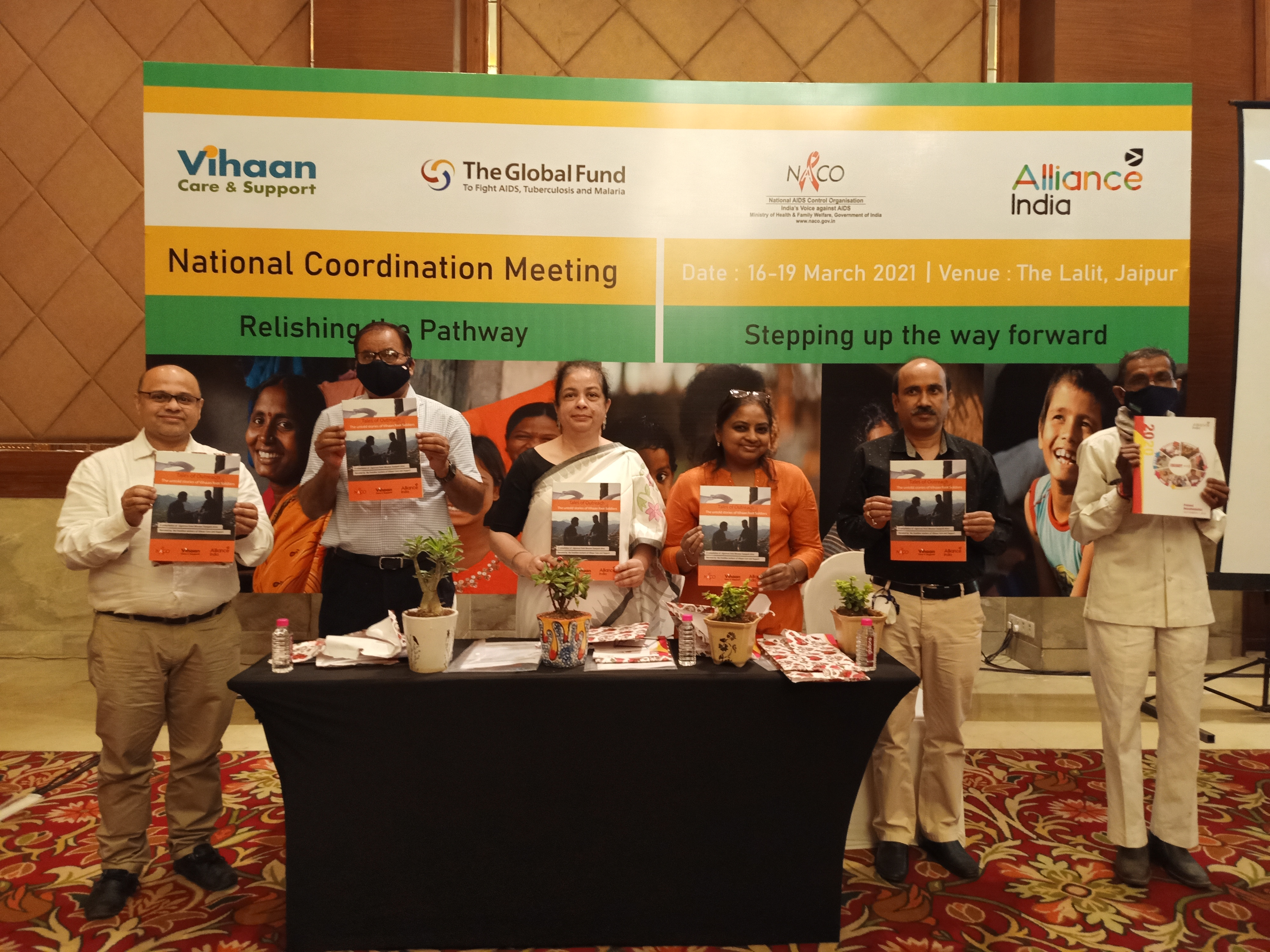 Releasing a compilation of stories of outreach workers of Vihaan Programme